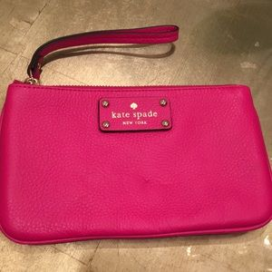 Brand new Kate Spade hot pink wristlet